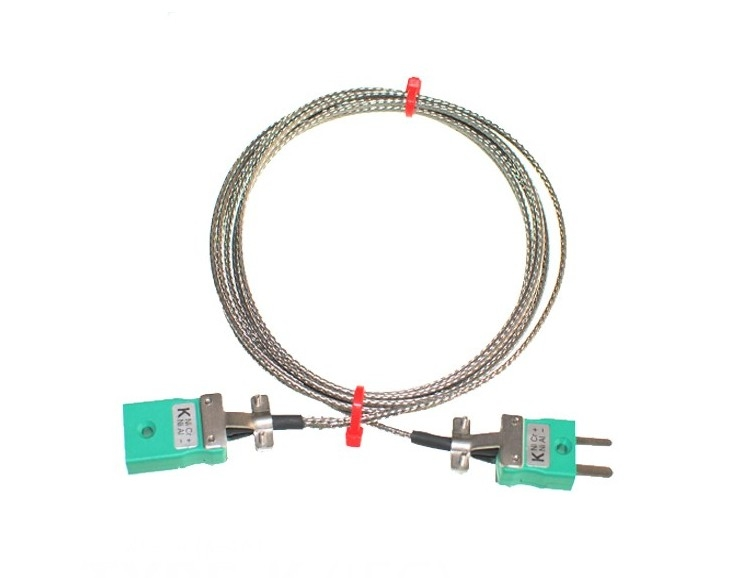 Glassfibre Insulated Cable / Wire with MINIATURE Thermocouple Plugs & Sockets IEC