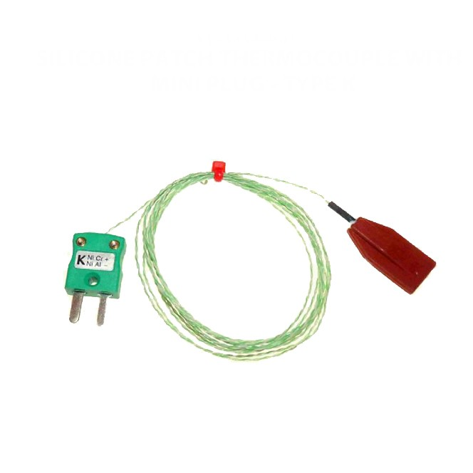 Silikon-Patch-Thermoelement mit Miniatur-Stecker-Typ K-IEC