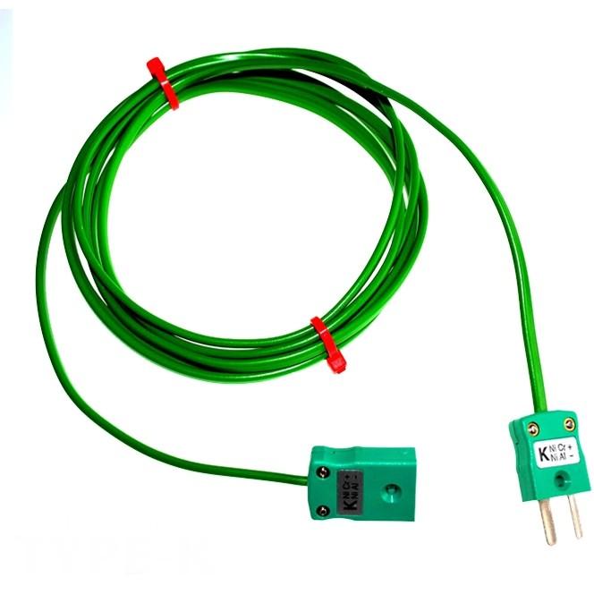 Typ K PVC Verlängerungskabel mit Miniatur-Stecker & Buchse (IEC)