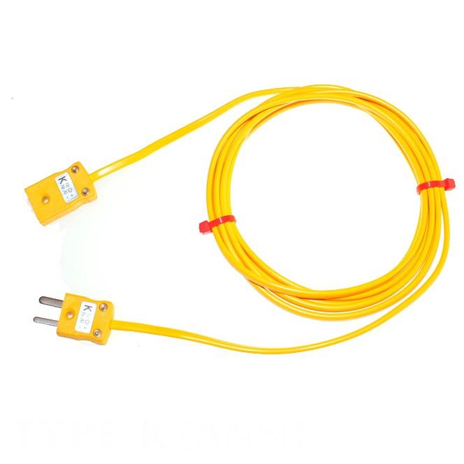 Typ K PVC Verlängerungskabel mit Miniatur-Stecker & Buchse (ANSI)
