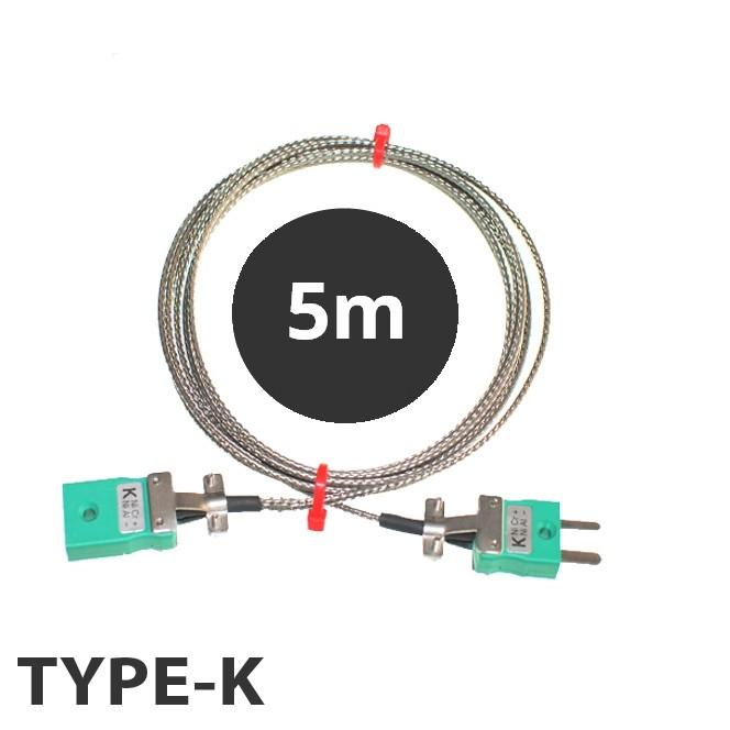 Typ K Thermoelement Glasfaser Verlängerungskabel mit Miniatur ...