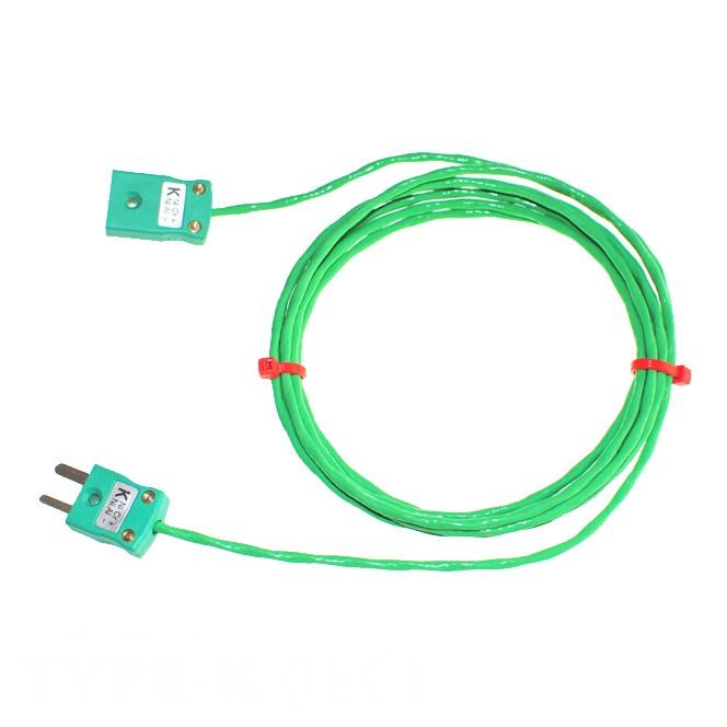 Verlängerungskabel Typ K PFA Thermoelement mit Miniatur-Stecker ...