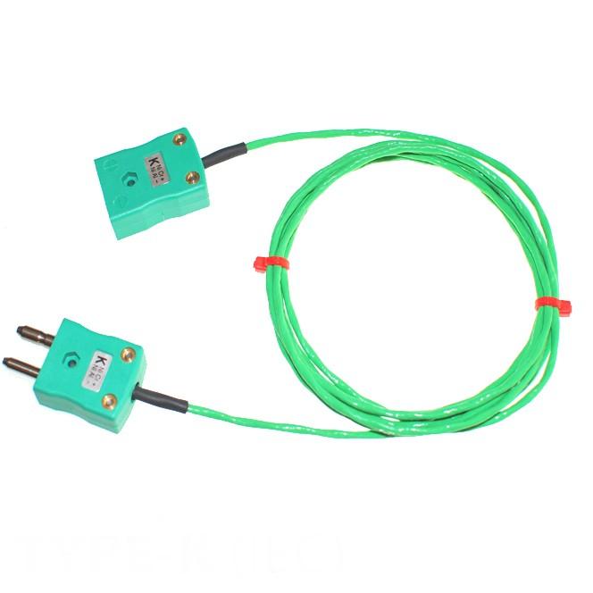Typ K PFA Thermoelement Verlängerungskabel mit Stecker und Buchse (IEC)