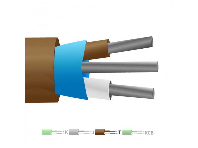 Typ T PVC isolierte Mylar Thermoelement Kabel geschirmt / Wire (IEC)