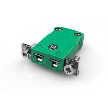 Miniatur-Panel Mount Thermoelement Stecker mit Edelstahl Halterung AM-R/S-SSPF Typ R/S ANSI