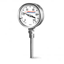 """Bi-Metal Thermometer Temperature Gauges - Bottom Entry Style with 1/2"""" BSP Pocket"""