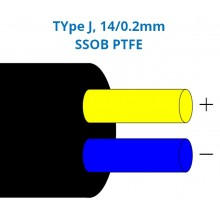 Type J Glassfibre Insulated Flat Pair Cable / Wire with Stainless Steel Overbraid (BS)