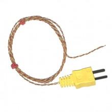 Junction Thermoelement mit Moulded auf Miniatur-Typ K ANSI Stecker ausgesetzt