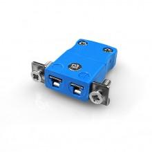 Miniatur paneelverbinder Mount Thermoelement mit Edelstahl Halterung AM-T-SSPF Typ T ANSI