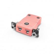Miniatur paneelverbinder Mount Thermoelement mit Edelstahl Halterung IM-N-SSPF Typ N IEC