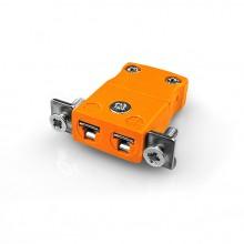 Miniatur paneelverbinder Mount Thermoelement mit Edelstahl Halterung AM-N-SSPF Typ N ANSI