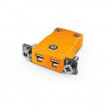 Miniatur paneelverbinder Mount Thermoelement mit Edelstahl Halterung IM-R/S-SSPF Typ R/S IEC