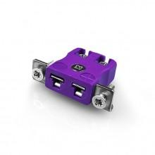 Mini Quick-Wire Thermoelement Connector Panel Mount mit Edelstahl Halterung IM-E-SSPFQ Typ E IEC