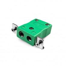 Standard-Panel Mount Thermoelement Steckverbinder mit Edelstahl Halterung ist K SSPF Typ K-IEC
