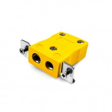 Standard-Panel Mount Thermoelement Steckverbinder mit Edelstahl Halterung AS-K-SSPF Typ K ANSI
