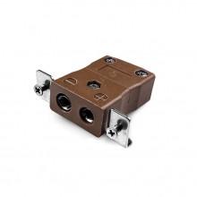 Standard-Panel Mount Thermoelement Steckverbinder mit Edelstahl Halterung ist-T-SSPF Typ T IEC