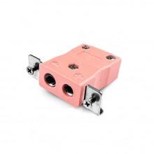 Standard-Panel Mount Thermoelement Steckverbinder mit Edelstahl Halterung ist-N-SSPF Typ N IEC