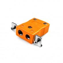 Standard-Panel Mount Thermoelement Steckverbinder mit Edelstahl Halterung ist-R/S-SSPF Typ R/S IEC