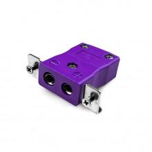 Standard-Panel Mount Thermoelement Steckverbinder mit Edelstahl Halterung ist E SSPF Typ E IEC