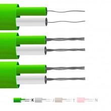 Typ K PFA isoliert flach paar Thermoelement Kabel / Draht (IEC)