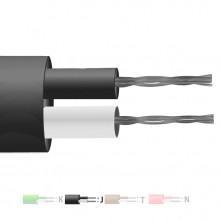 Typ J PFA isoliert flach paar Thermoelement Kabel / Draht (IEC)