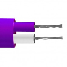 Typ E PFA isoliert flach paar Thermoelement Kabel / Draht (IEC)