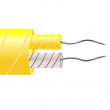 Typ K Glasfaser isoliert flach-Pair-Kabel / Draht (ANSI)