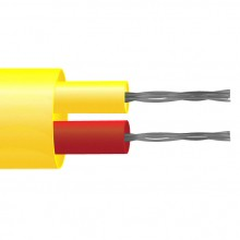 Typ K PFA isoliert flach paar Thermoelement Kabel / Draht (ANSI)