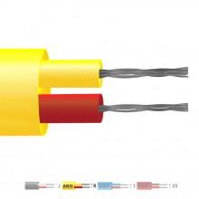 Typ K PVC isolierten Flachkabel paar Thermoelement / Wire (ANSI)