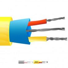 Typ K PVC isolierte Mylar Thermoelement Kabel geschirmt / Wire (ANSI)