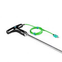 Temperature Needle Probe T-shaped - Asphalt or Food Processing 1M / 1.4M Type K