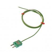 Ausgesetzt Junction Thermoelement Typ K oder T, 1/ 0,376 mm Single Shot PTFE mit Miniatur-Stecker