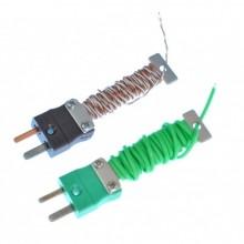 Kabel / Draht ordentlich Thermoelement mit montierten Miniatur-IEC-Stecker (PFA Twin verdreht oder flach paar)