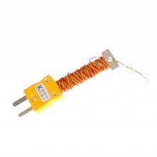 Kabel / Draht ordentlich Thermoelement mit montierten Miniatur-ANSI-Stecker (PFA Twin verdreht)