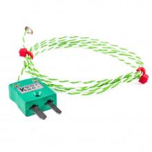 Feindraht Disc Thermoelement mit IEC-Miniatur-Stecker - Typ K oder J