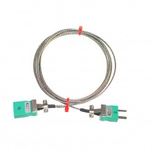 Typ K Thermoelement Glasfaser Verlängerungskabel mit Miniatur-Stecker & Buchsen (IEC)