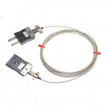 Typ J-Glasfaser-Thermoelement-Verlängerungskabel mit Standard-Stecker & Buchsen (IEC)