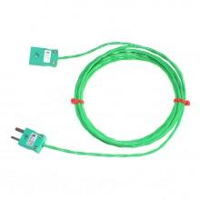 Verlängerungskabel Typ K PFA Thermoelement mit Miniatur-Stecker & Buchse (IEC)