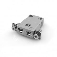 Miniatur paneelverbinder Mount Thermoelement mit Edelstahl Halterung AM-B-SSPF Typ B ANSI