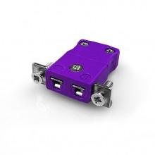 Miniatur paneelverbinder Mount Thermoelement mit Edelstahl Halterung AM-E-SSPF Typ E ANSI