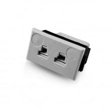 Miniatur rechteckige Faszie Socket Thermoelement Steckverbinder JM-B-FF Typ B JIS